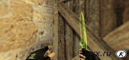 Скин Прозрачный нож Трон зелёный
